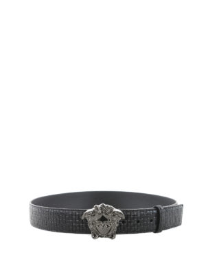 Versace: belts - Palazzo leather belt