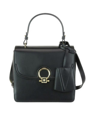 Versace: bowling bags - DV One leather medium bag