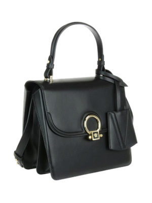 Versace: bowling bags online - DV One leather medium bag
