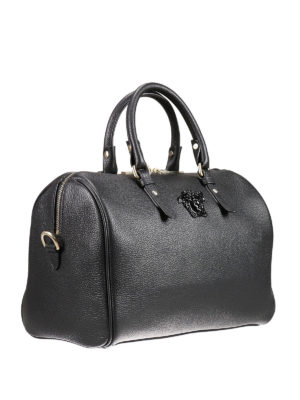 Versace: bowling bags online - Palazzo leather bowling bag
