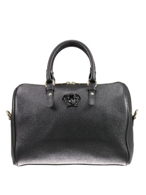 Versace: bowling bags - Palazzo leather bowling bag