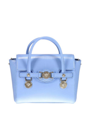 Versace: bowling bags - Signature grain leather bowling bag