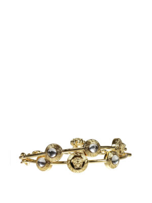 Versace: Bracelets & Bangles - Medusa and rhinestones bracelet