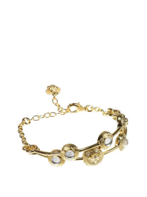 Versace: Bracelets & Bangles online - Medusa and rhinestones bracelet