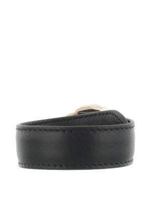 Versace: Bracelets & Bangles online - Medusa Head leather bracelet