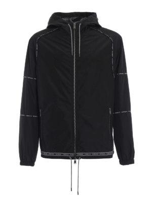 VERSACE: giacche casual - Giacca in tessuto tecnico con bande logo