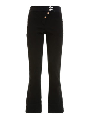 Versace: casual trousers - Flare hem trousers