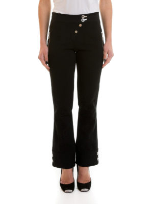 Versace: casual trousers online - Flare hem trousers