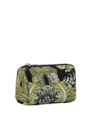 Versace: clutches online - Baroque printed nylon clutch
