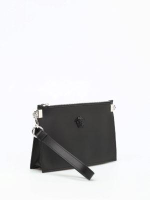 Versace: clutches online - Medusa Head detail leather clutch