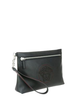 Versace: clutches online - Medusa leather clutch
