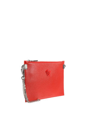 Versace: clutches online - Palazzo leather flat clutch