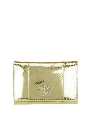 Versace: clutches - Palazzo laminated leather clutch