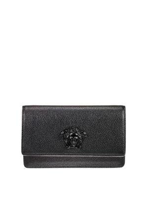 Versace: clutches - Palazzo leather clutch