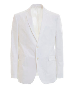 Versace Collection: blazers - Cotton single-breasted blazer
