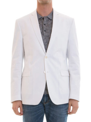Versace Collection: blazers online - Cotton single-breasted blazer