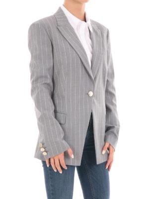 Versace Collection: blazers online - Pinstripe wool blend blazer
