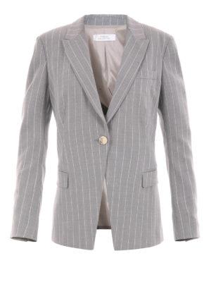 Versace Collection: blazers - Pinstripe wool blend blazer