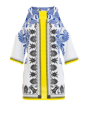 VERSACE COLLECTION: bluse - Blusa barocca cut-out sulle spalle