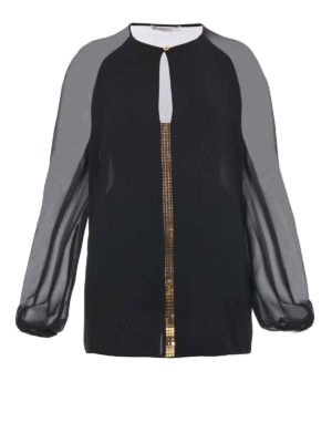 Versace Collection: blouses - Gold-tone spotlight light blouse