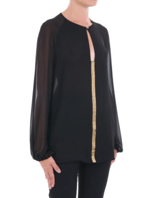 Versace Collection: blouses online - Gold-tone spotlight light blouse