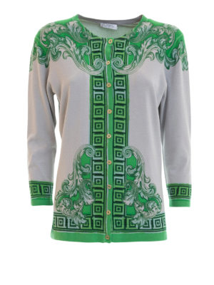 Versace Collection: cardigans - Patterned silk cardigan