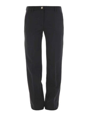 Versace Collection: casual trousers - Jersey straight leg trousers