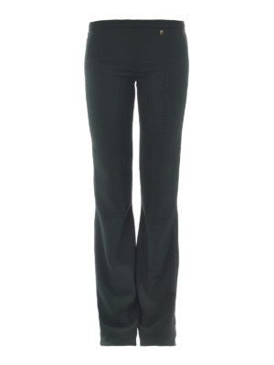 Versace Collection: casual trousers - Logo detail bootcut trousers
