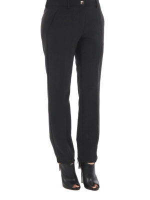 Versace Collection: casual trousers online - Jersey straight leg trousers
