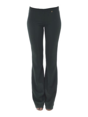Versace Collection: casual trousers online - Logo detail bootcut trousers