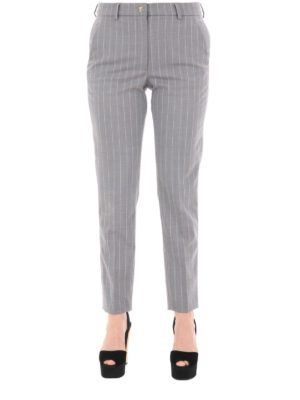 Versace Collection: casual trousers online - Pinstriped cigarette trousers
