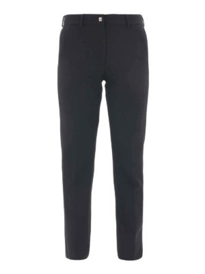 Versace Collection: casual trousers - Stretch jersey cigarette trousers