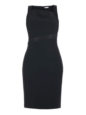 Versace Collection: cocktail dresses - Embossed trims bon ton sheath dress