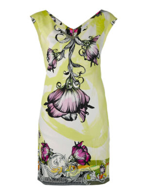 Versace Collection: cocktail dresses - Floral print crepe dress