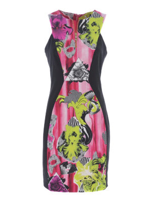 Versace Collection: cocktail dresses - Floral print sheath dress