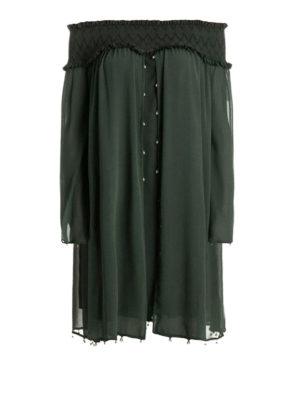 Versace Collection: cocktail dresses - Off shoulder chiffon loose dress