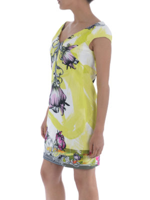 Versace Collection: cocktail dresses online - Floral print crepe dress
