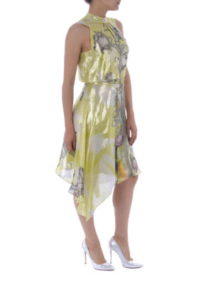 Versace Collection: cocktail dresses online - Floral silk and lurex dress