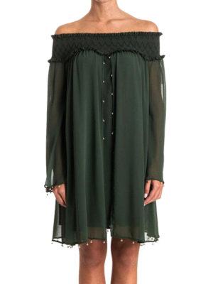 Versace Collection: cocktail dresses online - Off shoulder chiffon loose dress