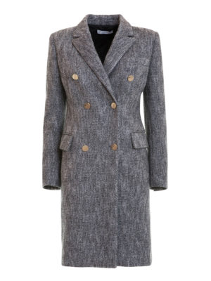 Versace Collection: knee length coats - Cotton and wool blend classic coat