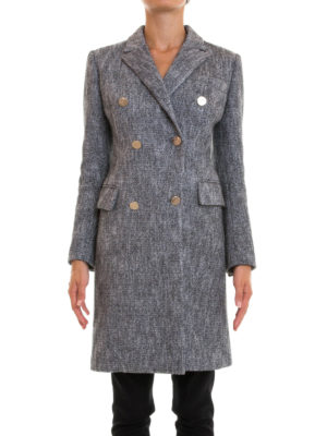 Versace Collection: knee length coats online - Cotton and wool blend classic coat