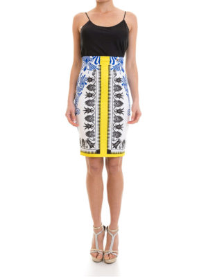 Versace Collection: Knee length skirts & Midi online - Baroque print fitted skirt