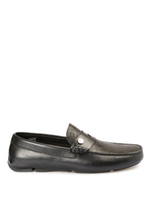 Versace Collection: Loafers & Slippers - Drilled Greca Key loafers