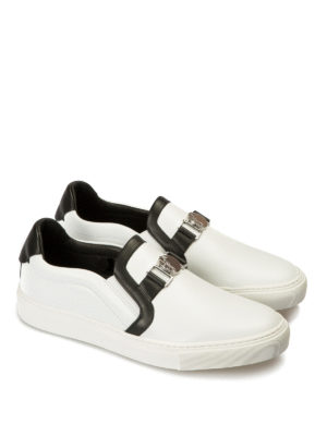 Versace Collection: Loafers & Slippers online - Medusa detailed slip-ons