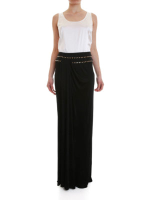 Versace Collection: Long skirts online - Studded draped long skirt