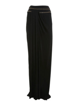 Versace Collection: Long skirts - Studded draped long skirt