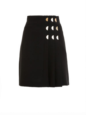 Versace Collection: mini skirts - Golden detailed pleated skirt