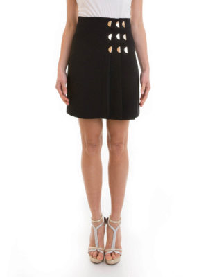 Versace Collection: mini skirts online - Golden detailed pleated skirt