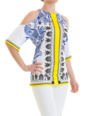VERSACE COLLECTION: bluse online - Blusa barocca cut-out sulle spalle