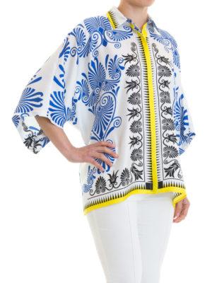 VERSACE COLLECTION: camicie online - Camicia a scatola in seta barocca